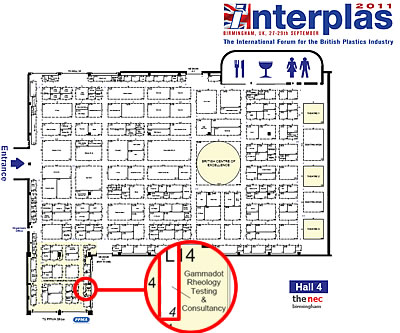Gammadot Rheology - Stand L14 - Interplas 2011